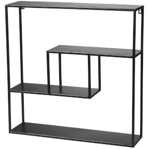 Broste Copenhagen Tally Metal Shelf - Black