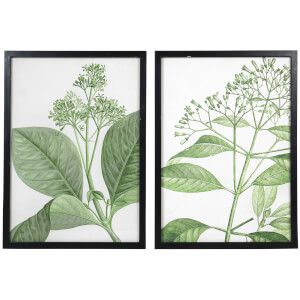 Broste Copenhagen Nature Wood Wall Art - Black (Set of 2)