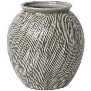 Broste Copenhagen Sandy Ceramic Vase - Smoked Pearl