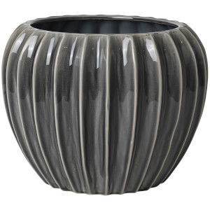 Broste Copenhagen Wide Ceramic Flowerpot - Smoked Pearl