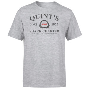 Camiseta Tiburón Quint's Shark Charter - Hombre - Gris