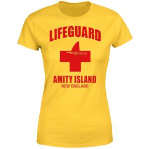 Jaws Amity Island Lifeguard Women's T-Shirt - Yellow
