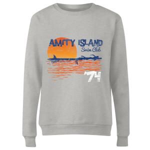 Jaws Amity Swim Club Women's Sweatshirt - Grey