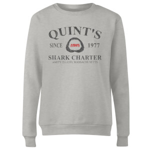 Sweat Femme Les Dents de la mer - Quints Shark Charter - Gris