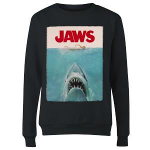 Jaws Classic Poster Women's Sweatshirt - Black