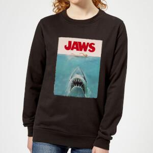 Sudadera Tiburón Póster Clásico Jaws - Mujer - Negro