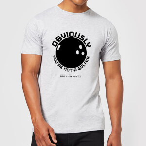 T-Shirt Il Grande Lebowski Obviously You're Not A Golfer - Grigio