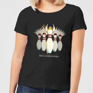 The Big Lebowski Pin Girls Women's T-Shirt - Black
