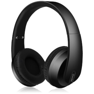 AV: Link Satin Finish Bluetooth 4.2 Headphones with Hard-Shell Case - Black