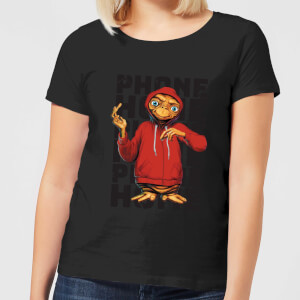 ET Phone Home Stylised Damen T-Shirt - Schwarz