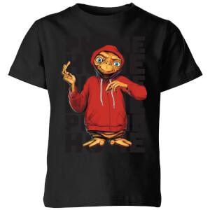 ET Phone Home Stylised Kids' T-Shirt - Black