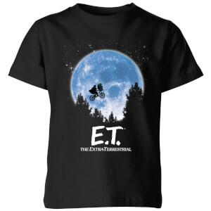 ET Moon Silhouette Kids' T-Shirt - Black