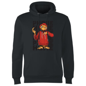 ET Phone Home Stylised Hoodie - Black