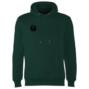 Primed Logo Graphic Print Hoodie - Forest Green