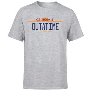 Camiseta Regreso al futuro Matrícula Outatime - Hombre - Gris