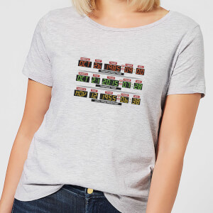 Back to the Future Destination Clock Dames T-shirt - Grijs