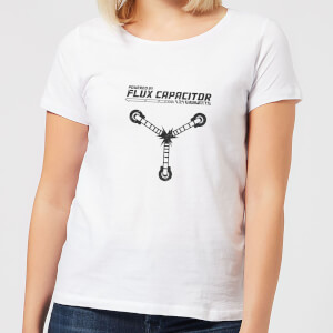 Camiseta Regreso al futuro Powered By Flux Capacitor - Mujer - Blanco