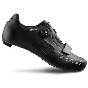 Lake CX218 Carbon Wide Fit Road Shoes - Black
