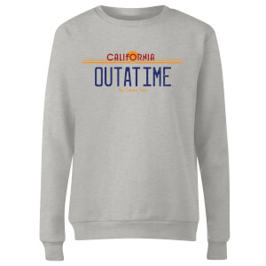 Back To The Future Outatime Plate Women's Sweatshirt - Grey