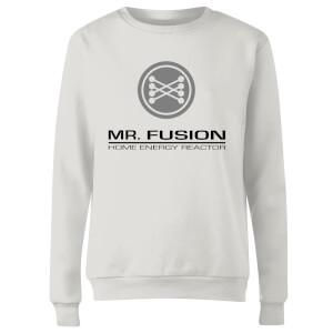 Sweat Femme Retour vers le Futur - Mr Fusion - Blanc