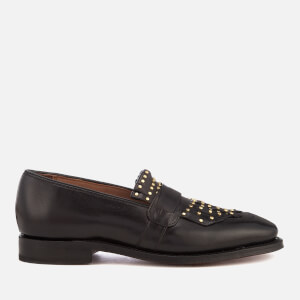 Grenson Women's Lena Glace Kid Leather Loafers - Black