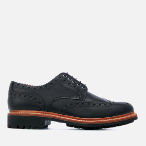 Grenson Men's Archie Leather Commando Sole Brogues - Black