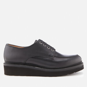 Grenson Men's Barnett Pull Up Leather Shoes - Black