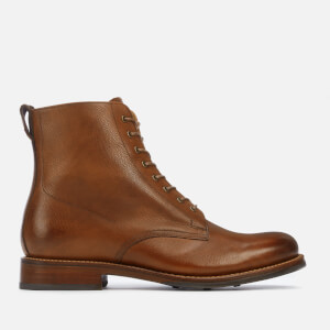 Grenson Men's Murphy Hand Painted Grain Leather Lace Up Boots - Tan
