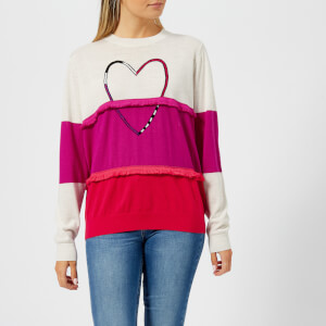 PS by Paul Smith Women's Heart Tassle Knitted Jumper - Ivory