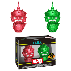 Marvel Hulk Red and Green Hikari XS Vinyl Figure 2 Pack