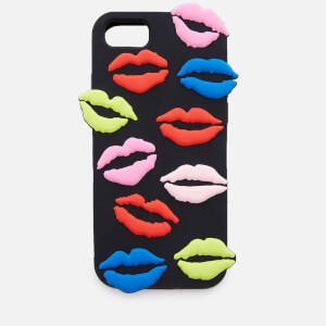 Lulu Guinness Women's Lip Blot iPhone 6/7/8 Case - Black/Multi