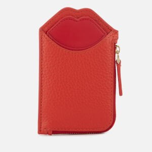 Lulu Guinness Women's Grainy Leather Liliana Wallet - Orange/Red