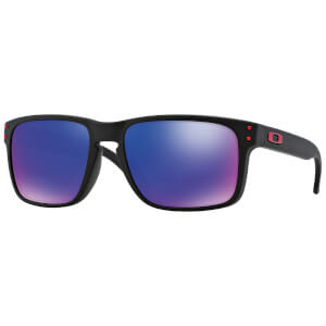 Oakley Holbrook Sunglasses - Matte Black/Red