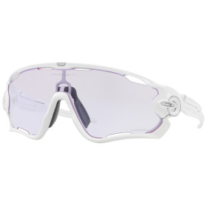 Oakley Jawbreaker Sonnenbrille- Polished White/Prizm Low Light