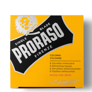 Proraso Refreshing Tissues – Wood & Spice (6-pack)