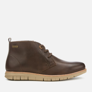 Barbour Men's Burghley Leather Chukka Boots - Brown Montana