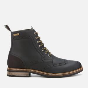 Barbour Men's Belsay Leather Brogue Lace Up Boots - Black