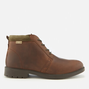Barbour Men's Kielder Weather Proof Leather Chukka Boots - Dark Brown Soho