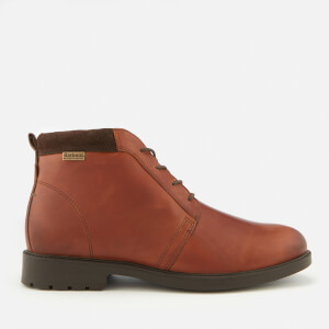 Barbour Men's Kielder Weather Proof Leather Chukka Boots - Chestnut Thunder