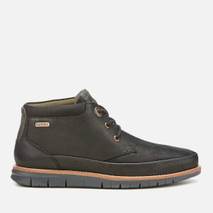 Barbour Men's Nelson Nubuck 3-Eye Chukka Boots - Black