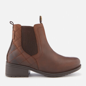 Barbour Women's Rimini Weather Proof Quilted Chelsea Boots - Dark Brown