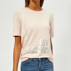 Love Moschino Women's Logo T-Shirt - Pink