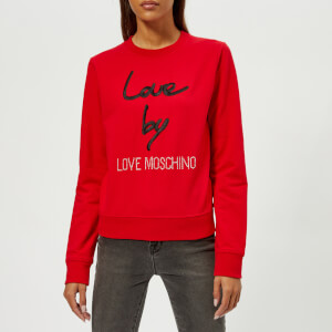 Love Moschino Women's Love By Sweatshirt - Red