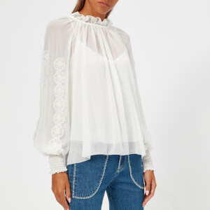 See by Chloe Women's Tulle Blouse - White