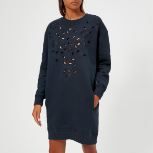See By Chloé Women's Laser Cut Floral Dress - Excessive Marine