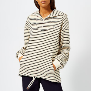 See By Chloé Women's Striped Sweatshirt - White - Black 1