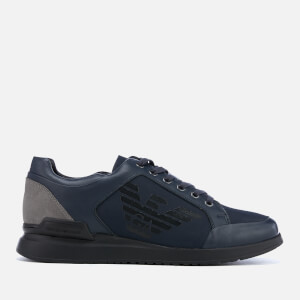 Emporio Armani Men's Low Profile Trainers - Night/Night/Grey