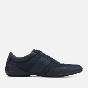 Emporio Armani Men's Zatch Leather Oxford Trainers - Night/Night