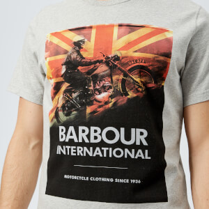 Barbour International Men's Climb T-Shirt - Grey Marl: Image 4