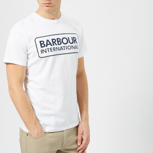 Barbour International Men's Large Logo T-Shirt - White